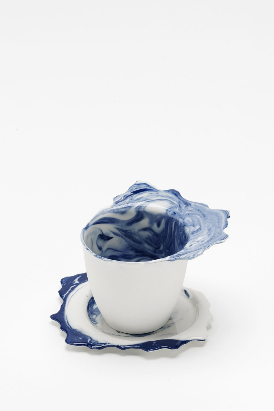 Coffee Cup with Saucer blue flow C-Set