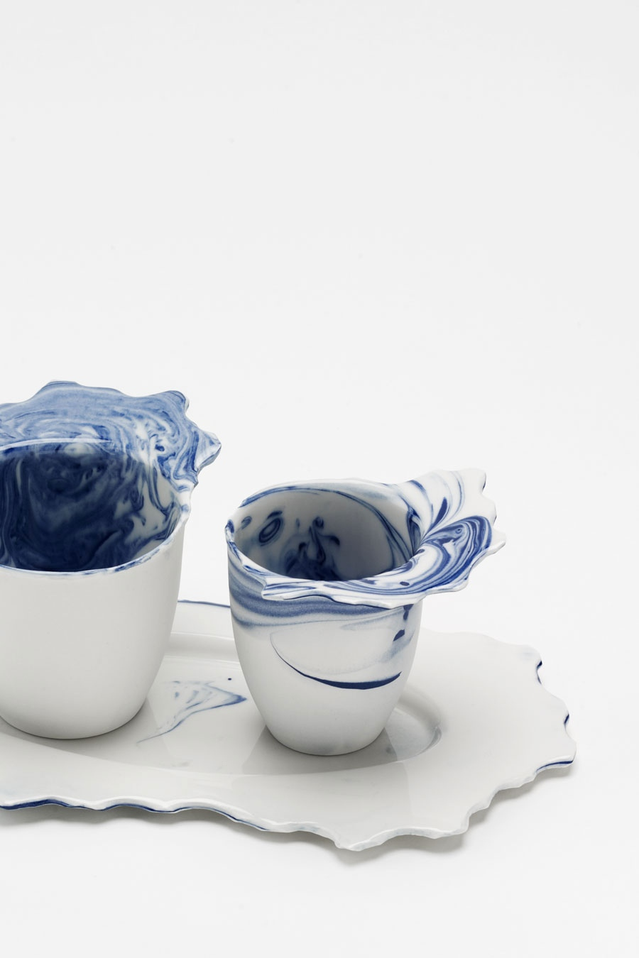 Coffee-Set blue flow C-Set