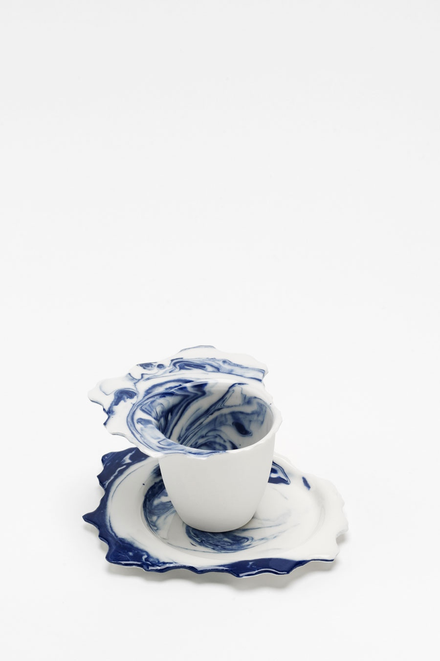 Espresso Cup with Saucer blue flow C-Set
