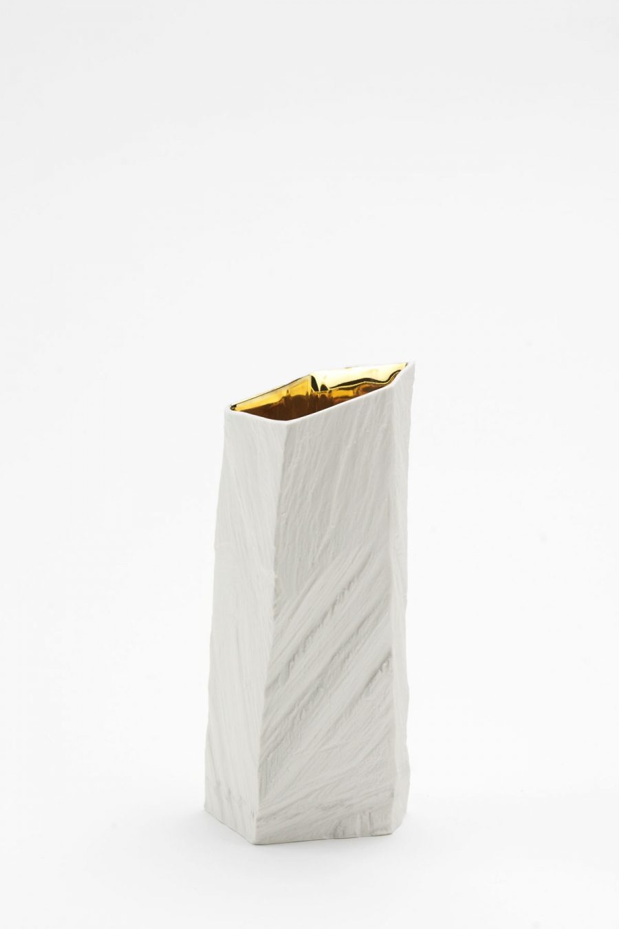 Vase S white gold Woodraw