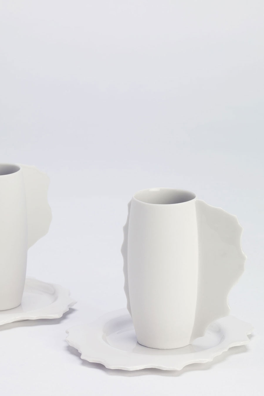 Coffee Cup with Saucer White