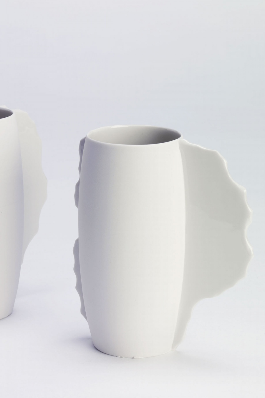 Cup with Seams White