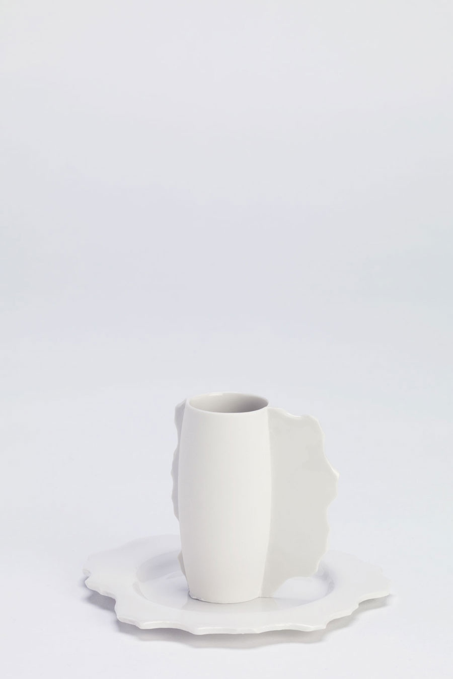 Espresso Cup with Saucer White