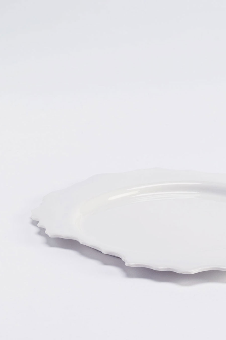 Plate S White