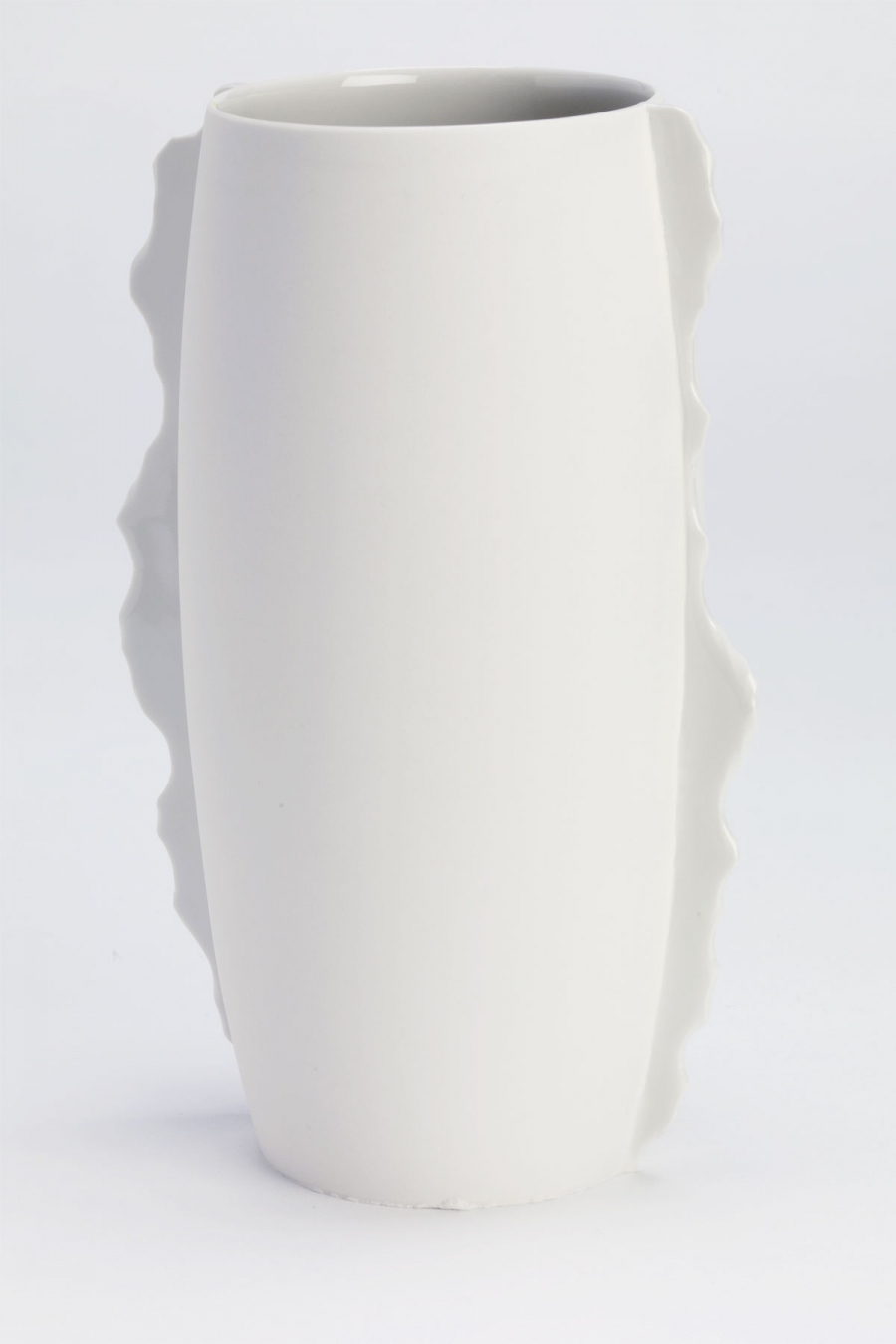 Vase with Seams White