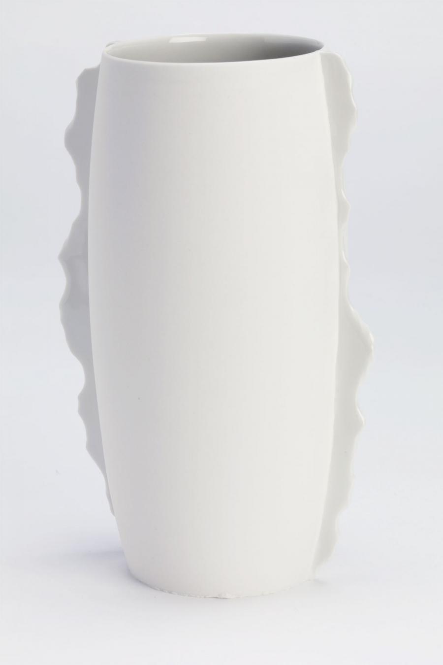 Vase mit Gussnaht White