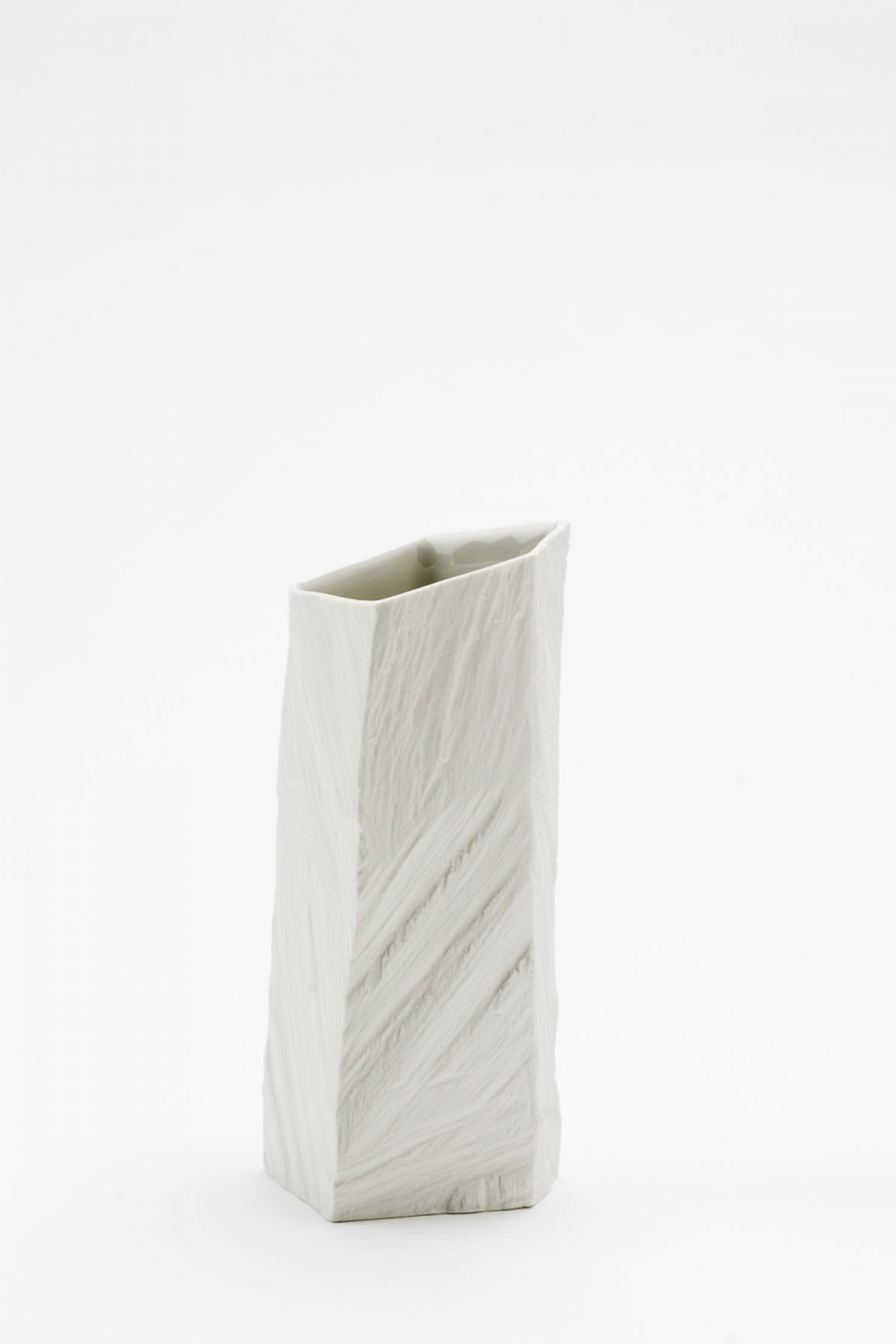 Vase S white raw Woodraw