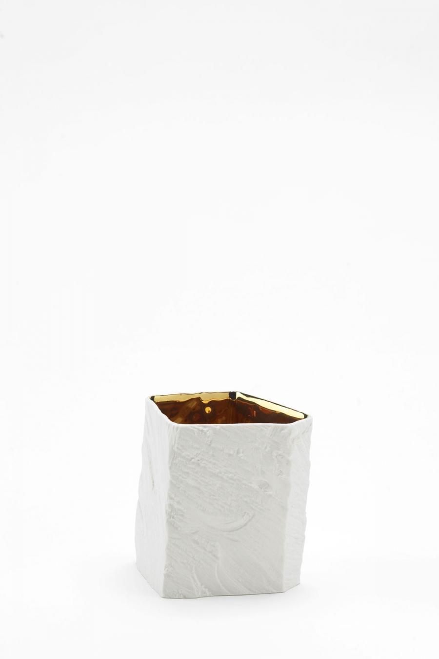 Trinkgefäß L white gold Woodraw